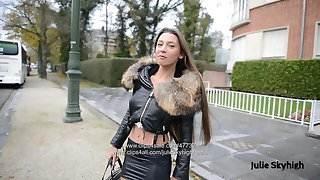 Eternal hooker in extreme 20cm high heels &, spandex skirt